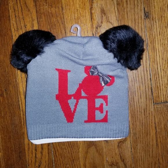 Disney Minnie Mouse faux fur ears winter hat NWT! ad2f85e68